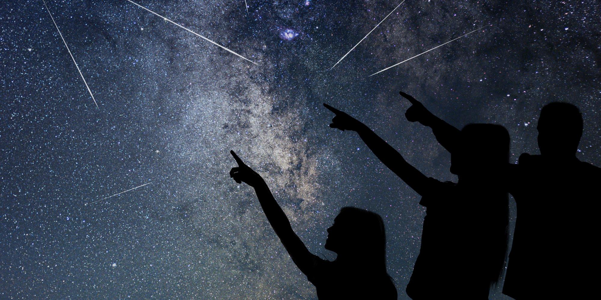 Sternenregen: Wunschträume unter freiem Himmel
