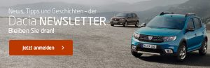 Dacia Blog Newsletter Banner