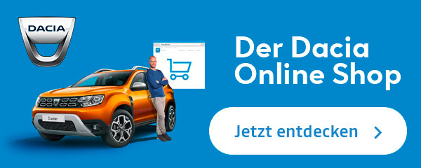 Dacia Online Shop Banner