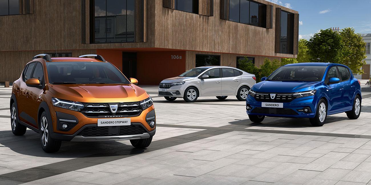 Neuer Dacia Sandero, Sandero Stepway und Logan<sup>1</sup>: Weltpremiere für das schicke Trio